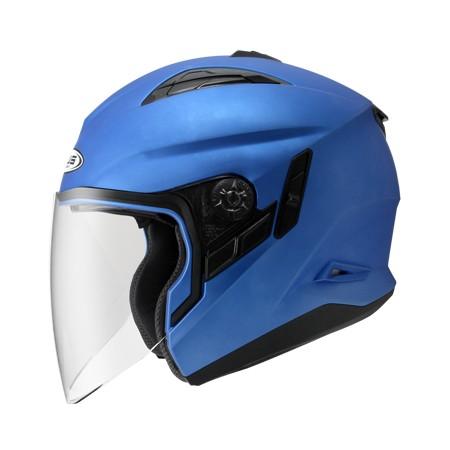 ZEUS ZS 613B 消光細閃銀藍~ 內藏式遮陽鏡片機構,操作方便、可保持良好視線~