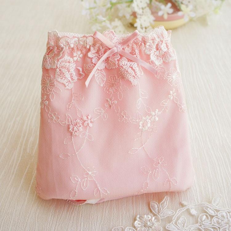 """~茉莉花""""~❤ 原單粉色花朵刺繡生理褲❤"""