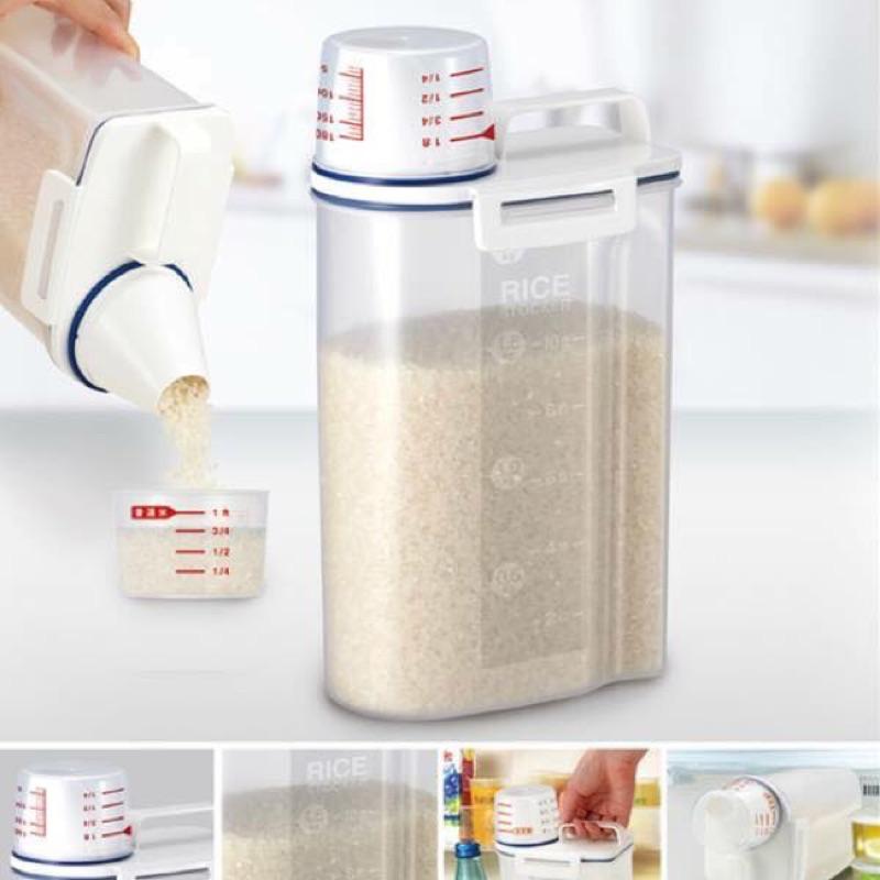2 公斤食物儲存罐HOLA 有售類似 399 罐2 公斤食物儲存罐附量杯家中收納好幫手防潮