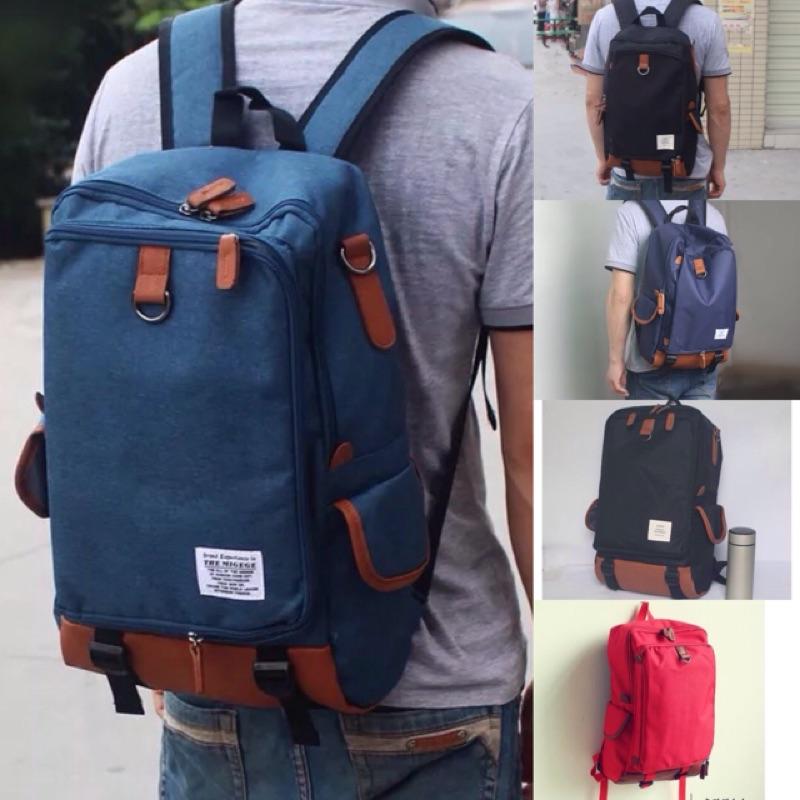 休閒系多層收納15 寸筆電包後背包電腦包肩背包旅行包書