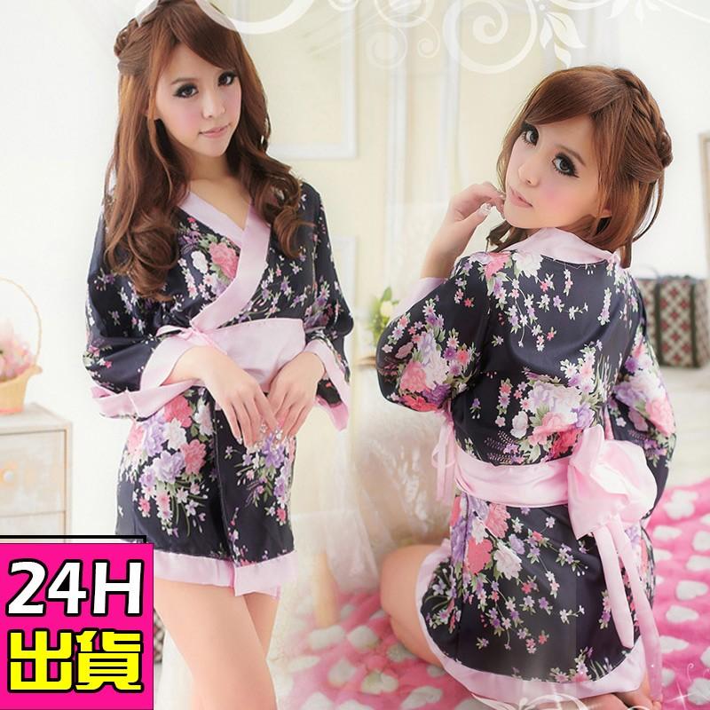 和服睡衣浴衣睡袍 日系和服情趣性感印花和服角色扮演C817