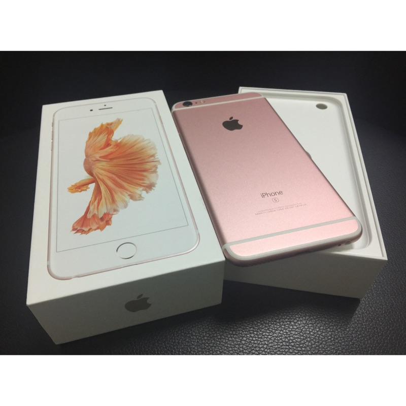 2 手iPhone 6S plus 64G 玫瑰金外觀 滿版玻保 到明年3 月直接購買20