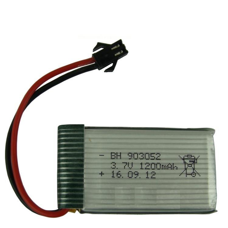~科諾電池3C ~903052 3 7V 電池黑色SM 接頭搖控車四軸六軸空拍機DX051