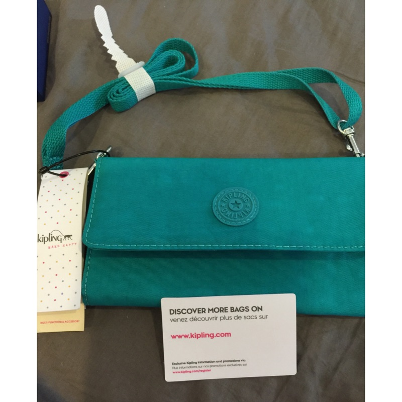 美國帶回Kipling 側背包,手拿包,可放12 張卡,可放零錢手機