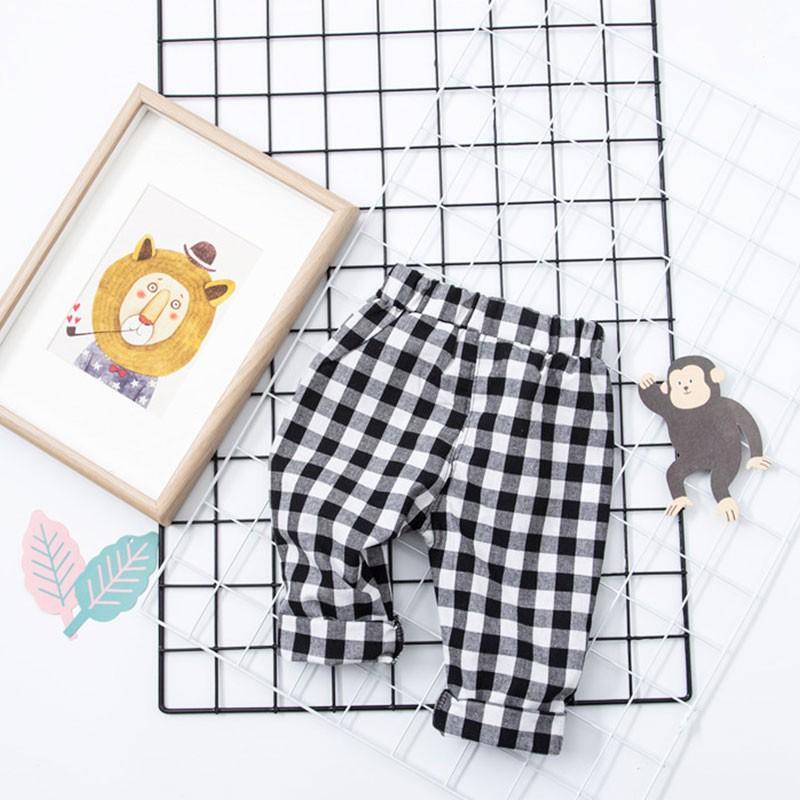 純棉中小童寶寶男童女童 格子休閒褲