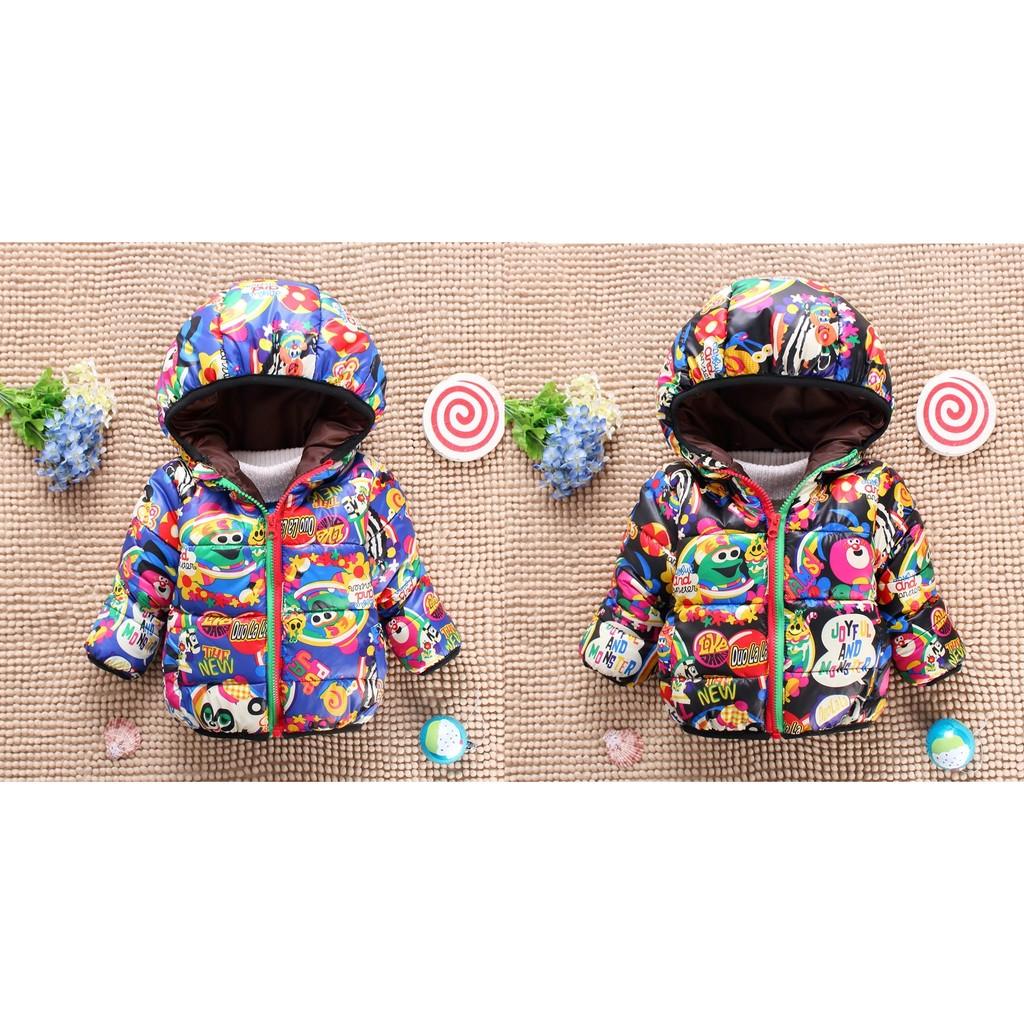 媽咪寶寶 樂防風外套2 色 彩色印花保暖厚款 外套男女童適穿中小童WiM 01600