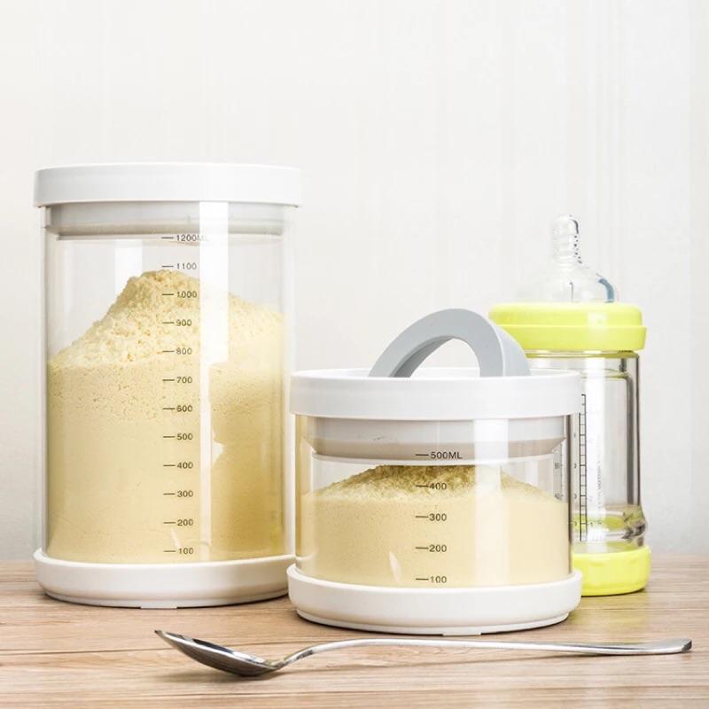 淘寶 玻璃保鮮罐奶粉罐奶粉盒500ml 900ml 1200ml