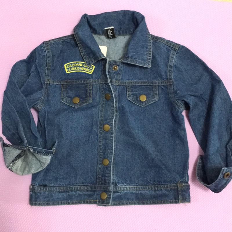 米奇潑漆洗舊復古牛仔外套