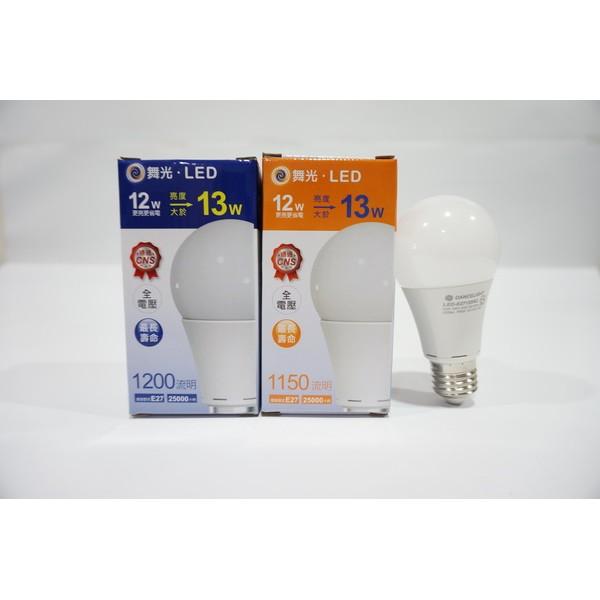 北歐 品牌舞光LED 12W 高強光超廣角球泡燈泡燈管 商檢局合格 R35332 2 年