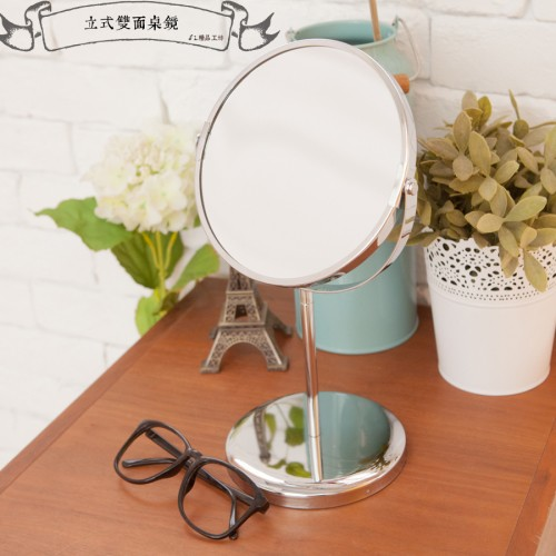 ~kihome ~立式雙面桌鏡可放大2 5 倍 240 圓鏡立鏡化妝鏡鏡子