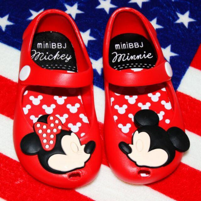 :米奇米妮涼鞋,麵包鞋沙灘鞋