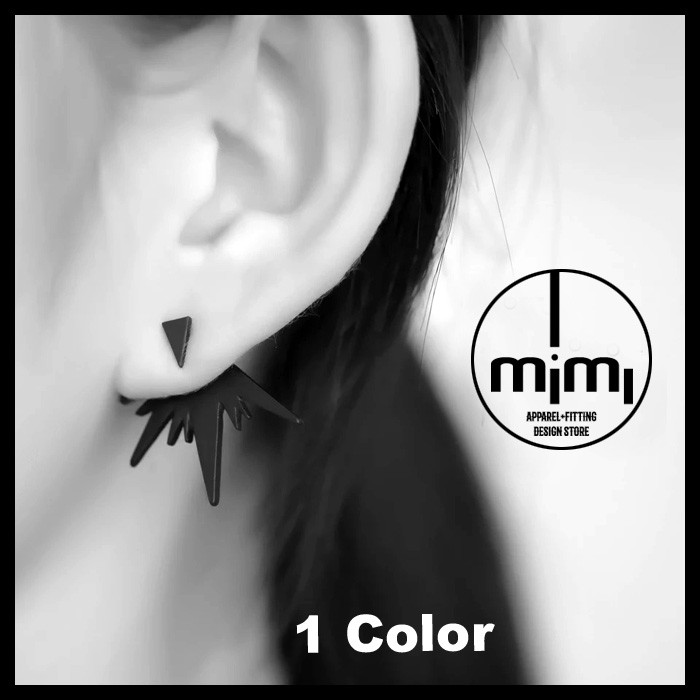 ~IMIMI ~耳環極簡雙層爆炸不規則幾何線條 式耳環SC052608