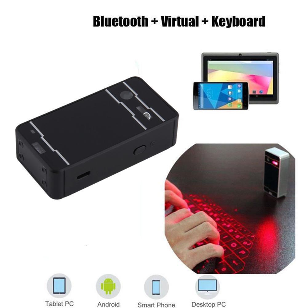 激光虛擬投影藍牙無線鍵盤手機平板電腦黑色