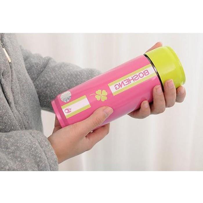 保溫瓶~KCW050 ~韓國 易開罐保溫杯304 不鏽鋼雙層超真空450ml 大容量情人節