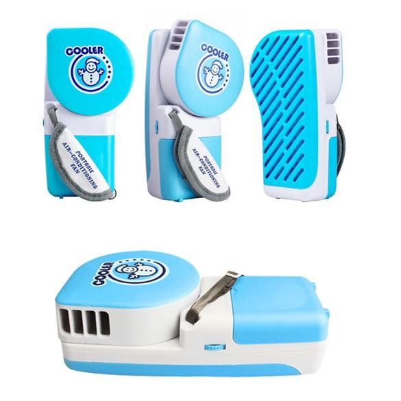 第 雪人掌上空調扇USB 口袋空調風扇(藍色)