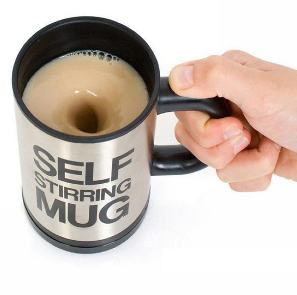 懶人機不鏽鋼自動攪拌機咖啡攪拌機自動攪拌咖啡杯350ML