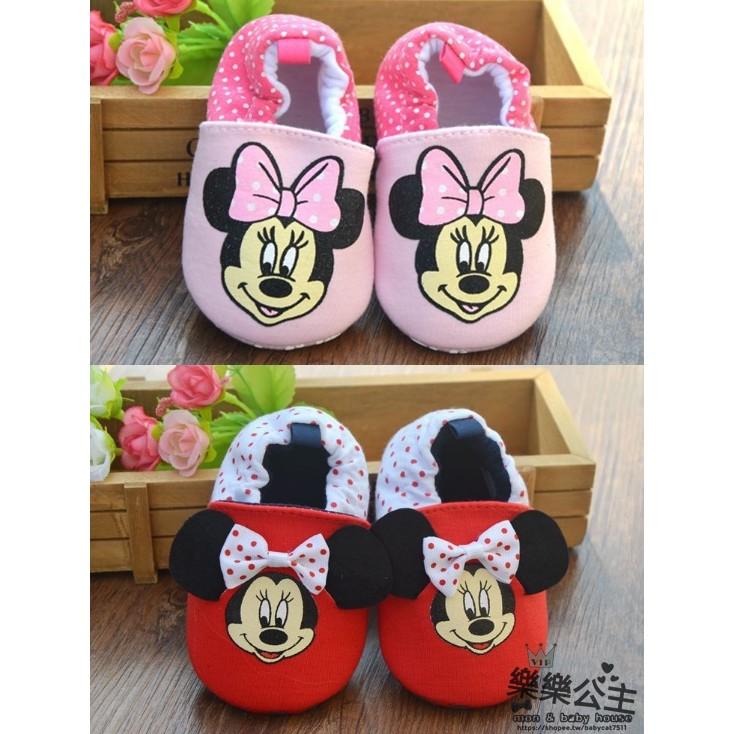 米奇米妮寶寶嬰兒防滑鞋子學步鞋室內鞋