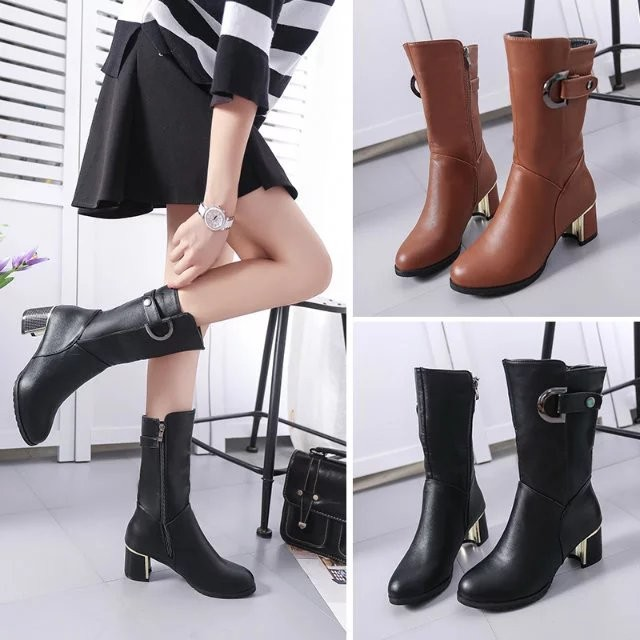 短靴 馬丁靴女英倫風中筒靴 女鞋單靴粗跟靴子尖頭高跟顯瘦棉鞋過膝靴短靴馬丁靴靴子