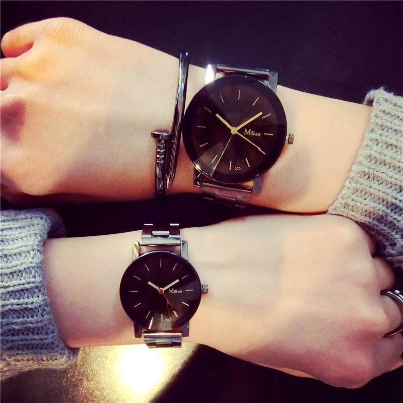 ~~ 風~~ 潮流 簡約男女生防水鋼帶非機械時裝石英情侶手表一對手錶 手錶女生 男生 手錶