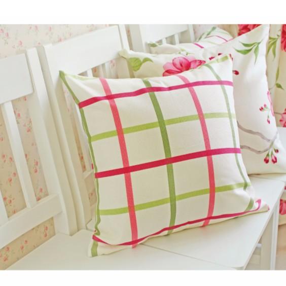 宜家純棉45 45cm 60 60cm 紅花格款ikea 風抱枕套靠墊套不含枕心