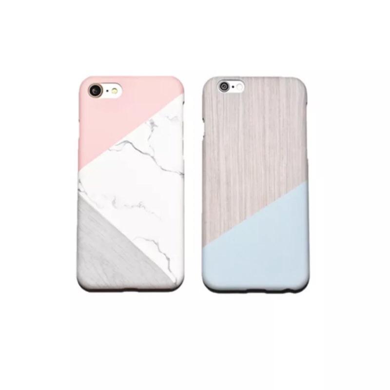 超美大 iPhone 6 6s 6s 7 7 大理石拼接幾何藍色粉色手機殼硬殼大理石送女友