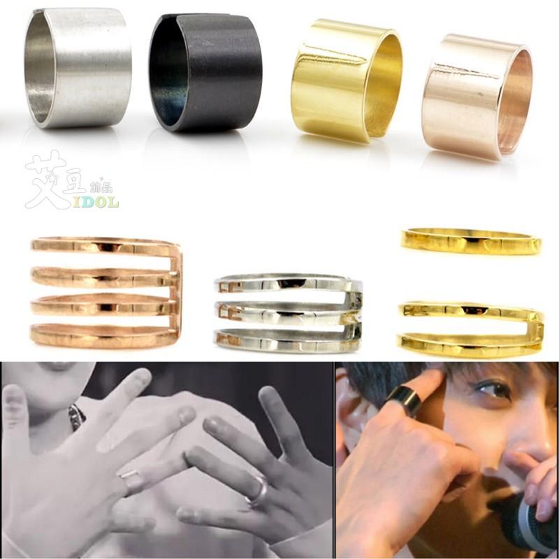 ◆艾豆◆H2996 鈦鋼~多色_ 帥氣指節戒指~防過敏來自星星的你主君的太陽韓國孔孝真寬版