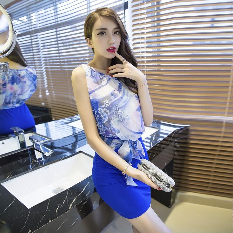 2016  女裝淑女氣質性感夜店潮 包臀修身無袖連衣裙