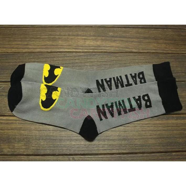 蝙蝠俠棉長襪子長襪一對B 款超級英雄黑暗騎士披風鬥士中筒襪學生襪 襪可愛襪子休閒襪