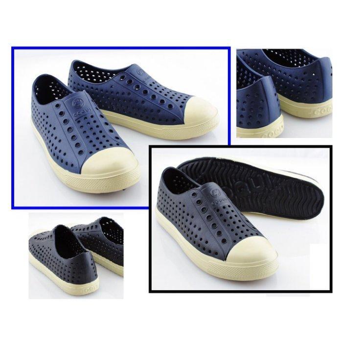 蝦皮 ~小茜鞋坊~繽紛 炫彩防水洞洞透氣休閒鞋4 色紫黑藍紅 190