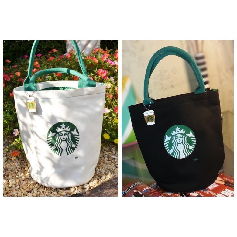 ~大衛營~星巴克帆布包圓筒包星巴克包星巴克手提包帆布袋Starbucks 手提包便當袋