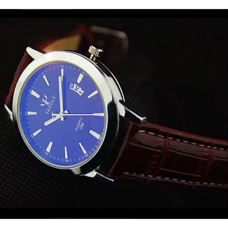 款極致防水日期 男錶藍光錶夜光錶手錶男友款情人節 三眼錶鋼錶296
