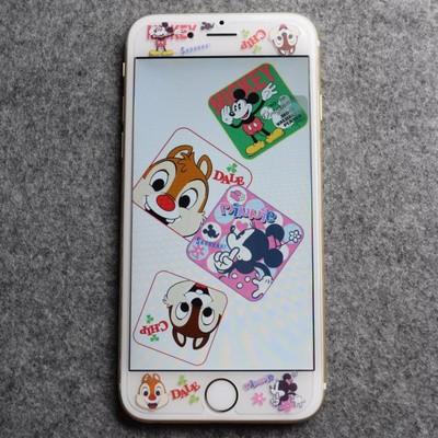iphone 6 iphone6s 鋼化玻璃貼迪士尼米奇、米妮、奇奇與蒂蒂鋼化玻璃貼~非全