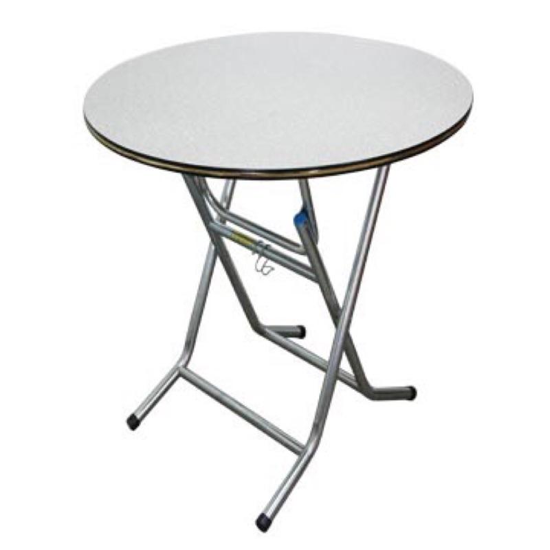 3X3 尺圓型折合式A 型餐桌灰白