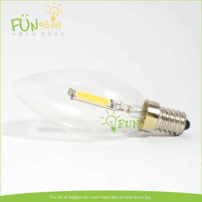 Fun 照明LED E14 1W 全周光燈泡單片式取代傳統鎢絲燈泡  E12 E27