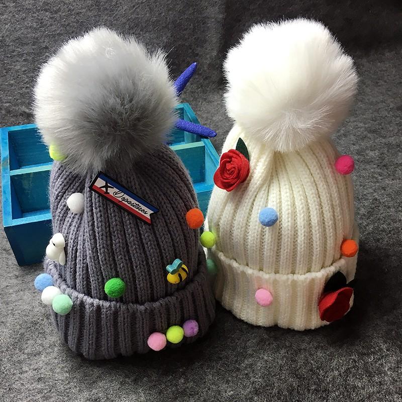 春秋 男女嬰幼兒童小寶寶帽子6 12 個月1 2 歲針織毛線帽潮
