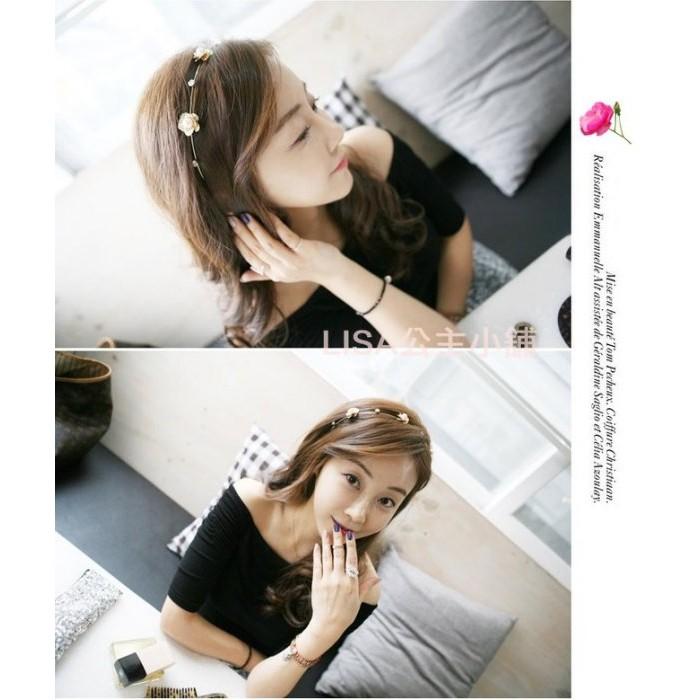LISA 公主各類飾品日韓 花朵珍珠水鑽髮箍髮圈頭箍飾品髮飾 品配飾新娘伴娘頭飾