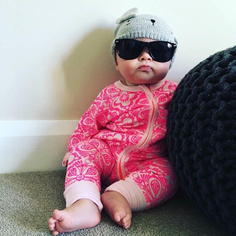 曈曈Baby ins 爆款春秋粉紅 純棉 哈衣嬰兒服裝連身衣爬服寶寶連體衣