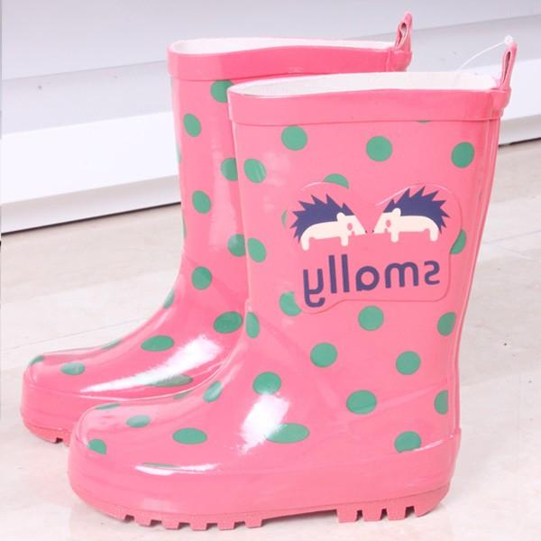 韓國smally 大小兒童橡膠雨鞋卡通男女寶寶小學生雨鞋童鞋防水雨靴