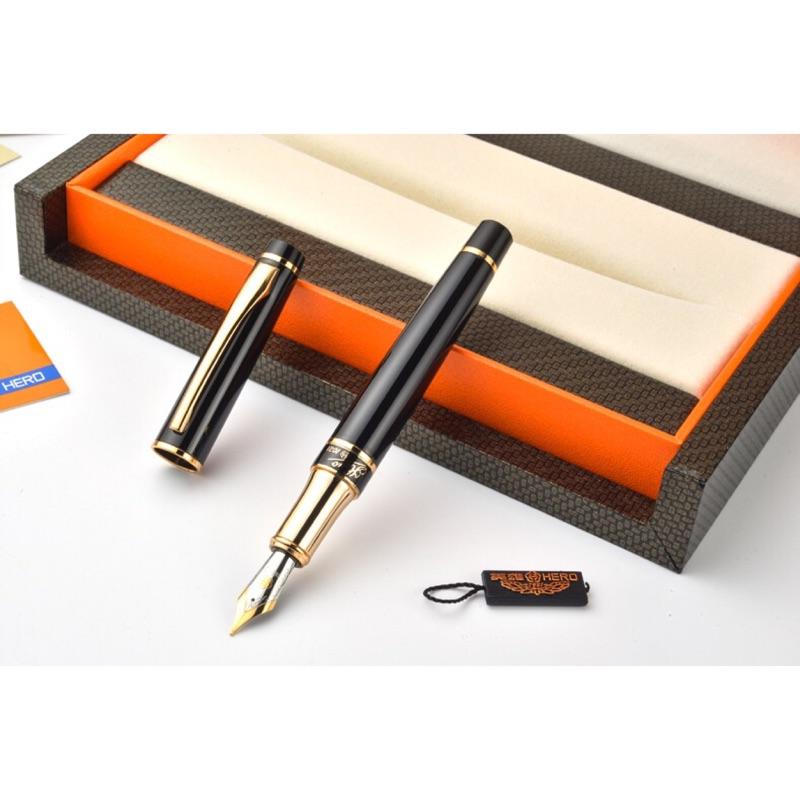英雄鋼筆1021 純黑麗雅墨水筆書法美工鋼筆彎筆尖練字