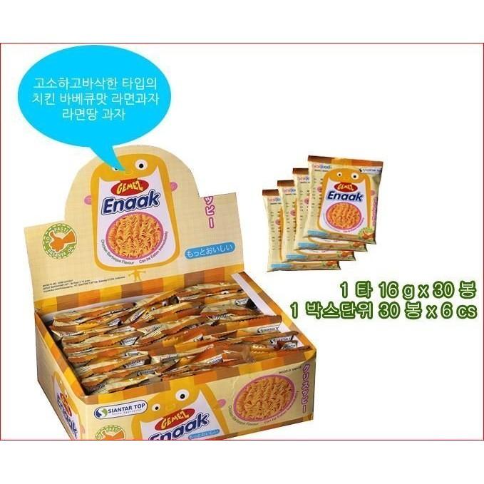 韓國 ENAAK 香脆點心麵隨手包一盒30 包 小雞麵原味