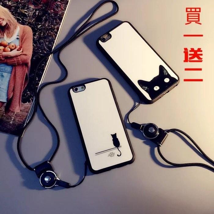 iPhone6 6s 貓咪兩用矽膠防摔殼6plus 6splus 5se 可愛簡約