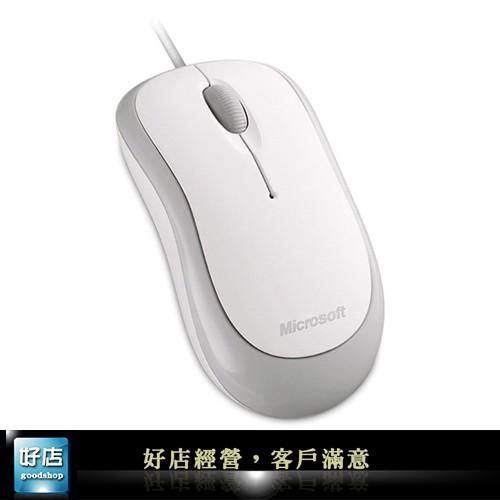~好店~ 微軟入門光學鯊光學滑鼠usb 滑鼠有線滑鼠捲線滑鼠白色海鷗白360