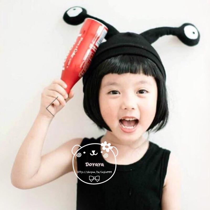 [Dorara ]韓國 兒童觸角眼睛寶寶保暖昆蟲帽兒童超萌卡通毛線帽