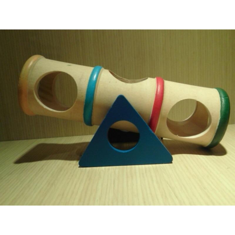 Carno 彩虹蹺蹺筒寵物鼠玩具圓筒翹翹板