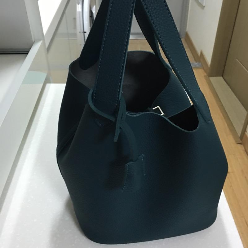 韓國帶回來 水桶包方包手提包肩包斜背包墨綠色只有一個