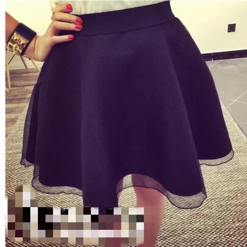 ❣性感薄紗❣✨yiyi 小物✨修身顯瘦薄紗蓬蓬短裙蓬蓬的,外層是紗,裡層是太空棉後拉鍊 ,