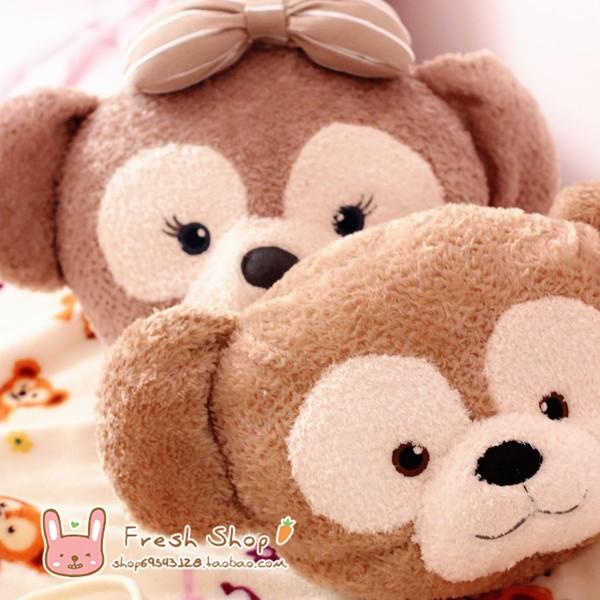 達菲抱枕空調毯二合一可愛達菲熊duffy bear 雪莉玫卡通抱枕毯