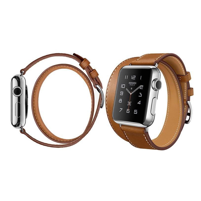 免 Apple Watch 1 2 雙圈錶帶手錶生日真皮牛皮非愛馬仕HERMES