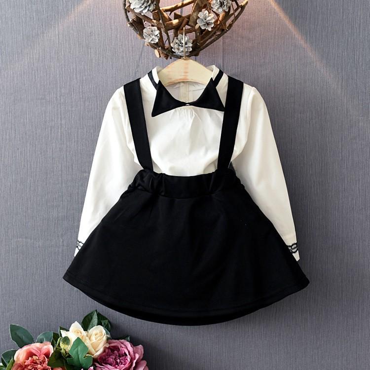 Xin ⋆純色襯衫背帶裙套裝