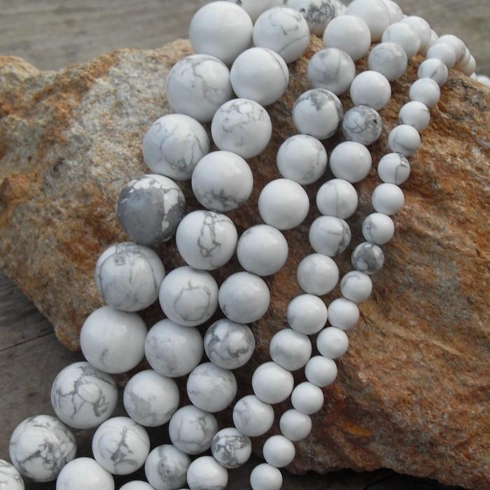 美國天然白鬆石珠子4 12mm 水晶圓珠按條 diy 手鏈散珠串珠項鏈